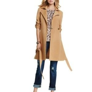 Cabi Casablanca Camel Knit Trench Coat